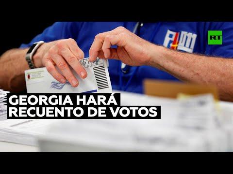 Georgia hará recuento de votos por el resultado ajustado entre candidatos