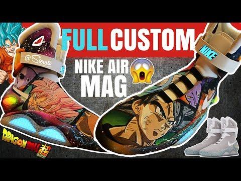 b7b5eeb00fb Full Custom | DragonBall Super Painted Nike Air Mags by Sierato