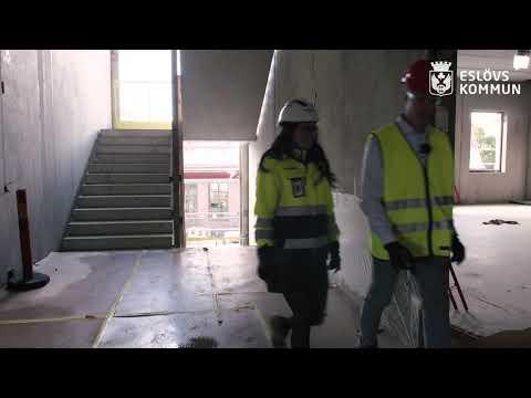 Här visar Johan Eslövs nya gymnasieskola – följ med in i bygget!