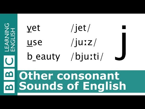 Say yet, use and beauty. Other Consonants. Programme 41. Pronunciation Tips.