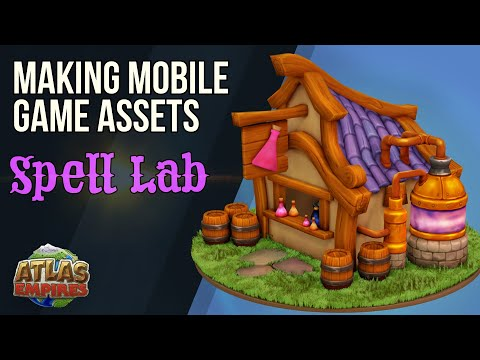 Making Mobile Game Assets - Atlas Empires - Spell Lab