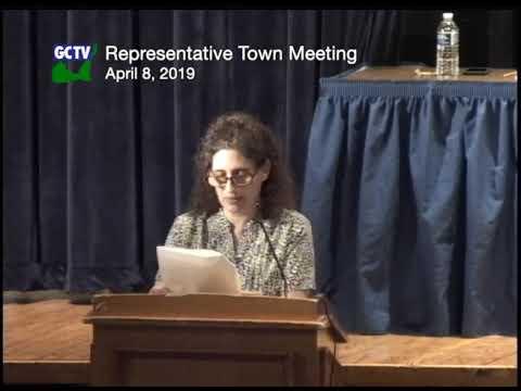 Representative Town Meeting, April 8, 2019