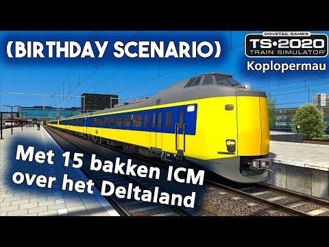 Train Simulator 2020: Met 15 bakken ICM over het Deltaland (birthday scenario)