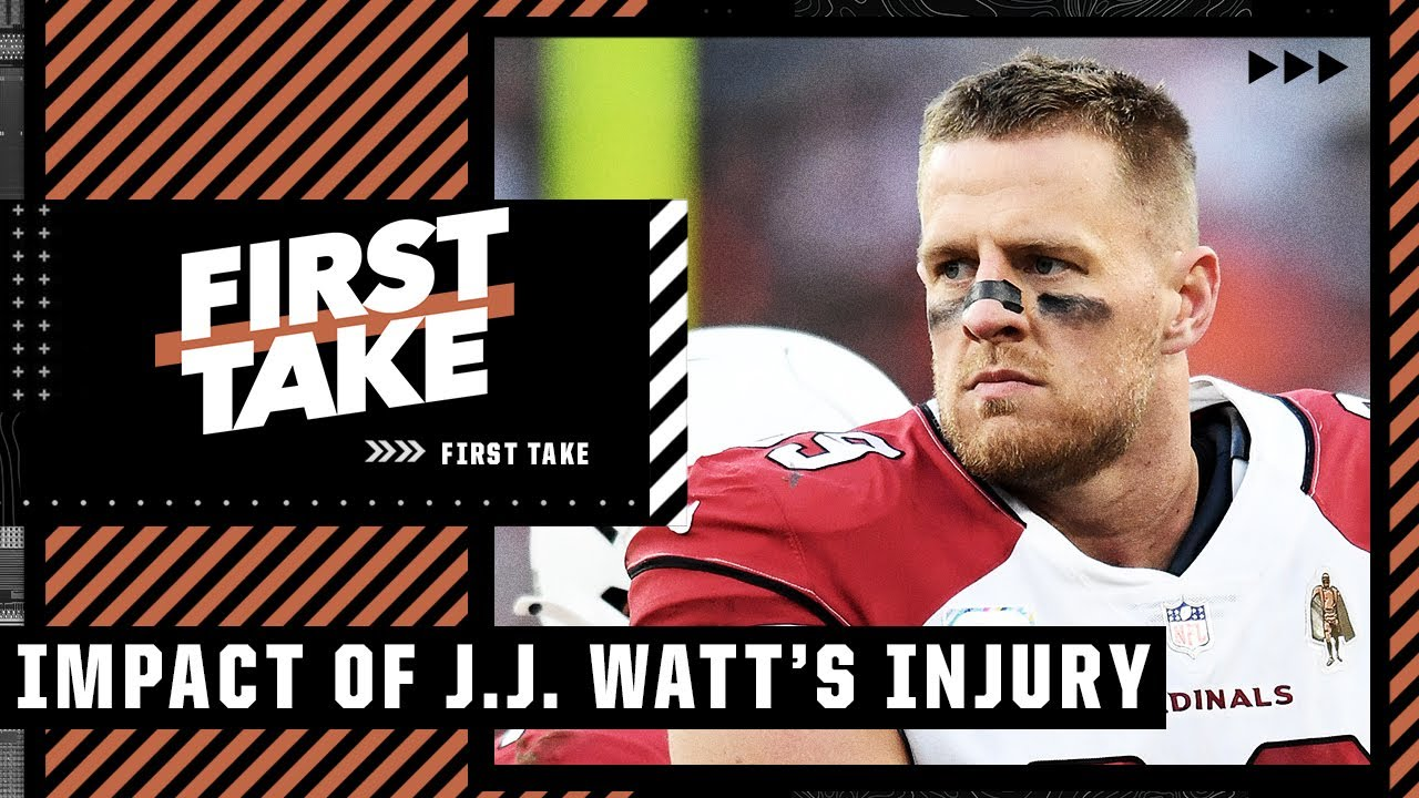 Why the J.J. Watt injury is a HUGE LOSS for the Cardinals ahead of the Packers matchup | First Take