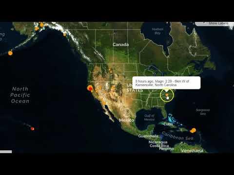 Earthquakes Rattle Areas of Northern California, North Carolina, Utah and Carlsberg Ridge