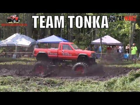 TEAM TONKA Mega Truck Mudding At Perkins Summer Sling Mud Bog 2018