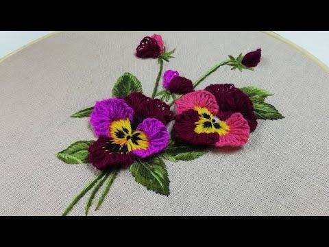 3D Embroidery | Viola Flower || 3Д Вышивка | Цветок Виола