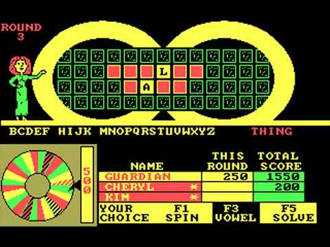Wheel of Fortune: Junior Edition (Sharedata) (MS-DOS) [1987]