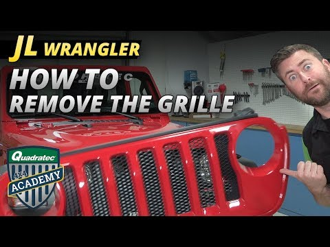 How to Remove the Grill from a 2018 Jeep Wrangler JL