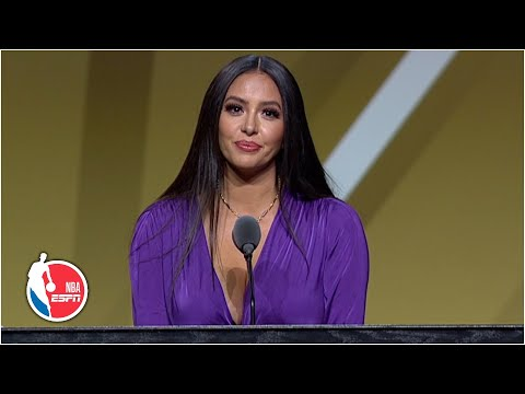 Vanessa Bryant expresses Kobe's love for Michael Jordan and the fans | 2020 Basketball Hall of Fame