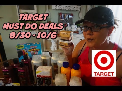TARGET MUST DO DEALS 9/30 - 10/6 | 48¢ L'oreal Facial, 13¢ Caress & so much more!