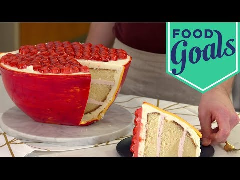 Crazy Detailed Pomegranate Cake | Food Network