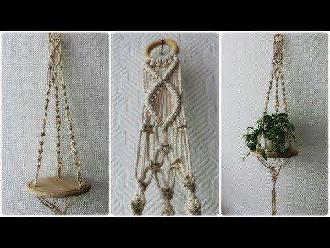 Makramee Blumenampel #5 * DIY * Macrame Plant Hanger [eng sub]