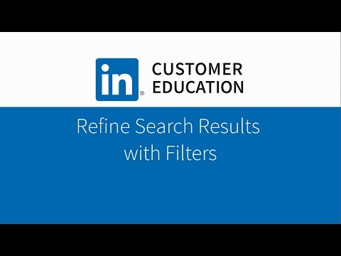 Refine Search Results with Filters