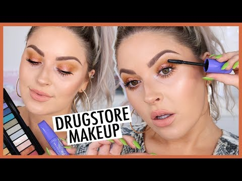 Simple Glowing DRUGSTORE Makeup & HUGE Lashes! ?? ft Rimmel London