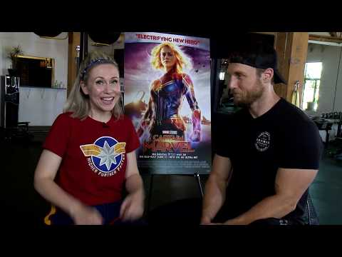 Captain Marvel workout with Jason Walsh and Ashley Eckstein from Her Universe | Hot Topic - UCTEq5A8x1dZwt5SEYEN58Uw