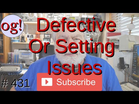 Defective Radio or Setting Issues? (#431)