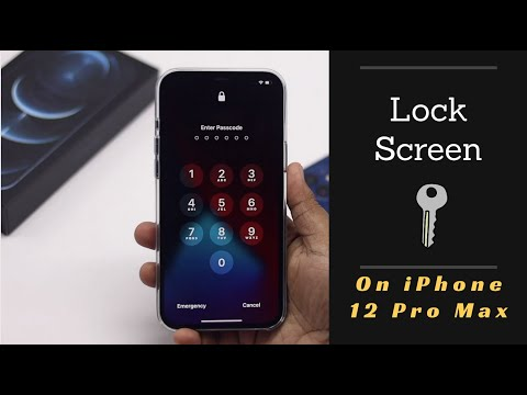 iPhone 12 Pro Max Screen Lock with Face ID & Passcode| Change Screen Lock Time on iPhone 12 Pro Max