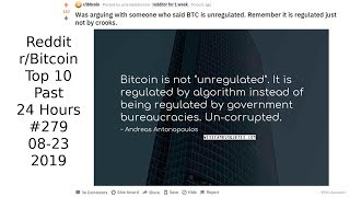Was arguing with someone who said BTC is unregulated. Remember it is regulated. (r/Bitcoin #279)