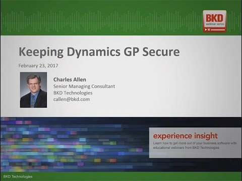 Keeping Dynamics GP Secure