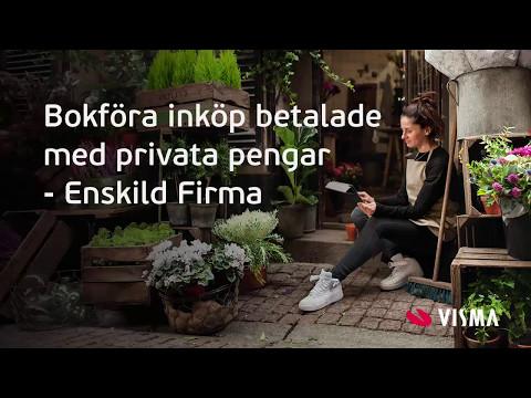Bokföra inköp betalade med privata pengar i Visma eEkonomi - Enskild Firma