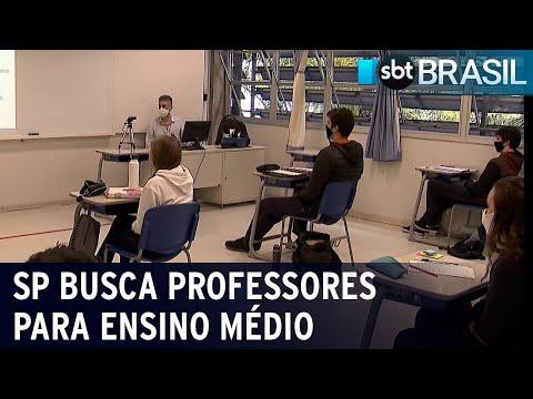 São Paulo contrata professores para novo modelo do Ensino Médio   SBT Brasil (20/07/21)