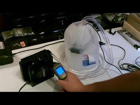 """DIY Air Cooler! An """"Ice-water fueled"""" Air Cooling Desk Fan w/radiator! (AC air cooler!) 40-50F AC/DC"""