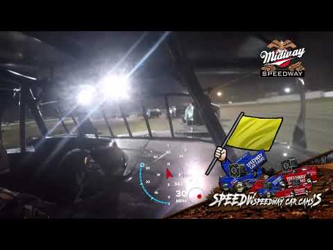 #54 Shawn Whitman - USRA B Mod - 5-30-2021 Midway Speedway - In Car Camera - dirt track racing video image