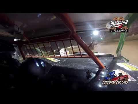 #6 Jay Flinn - USRA B Mod - 6-26-2021 Midway Speedway - In Car Camera - dirt track racing video image