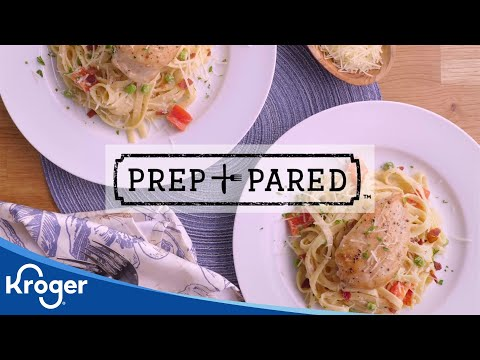 Prep + Pared: Creamy Chicken + Bacon Alfredo