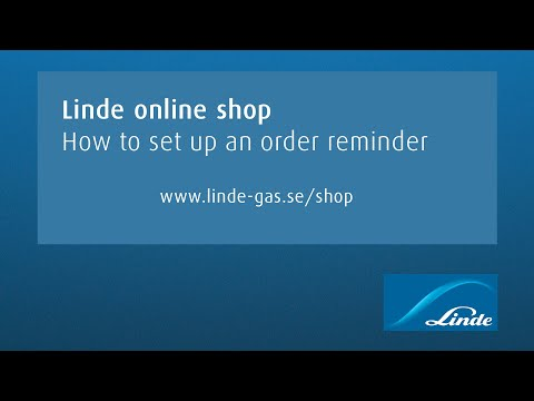 AGA online shop: How to set up an order reminder