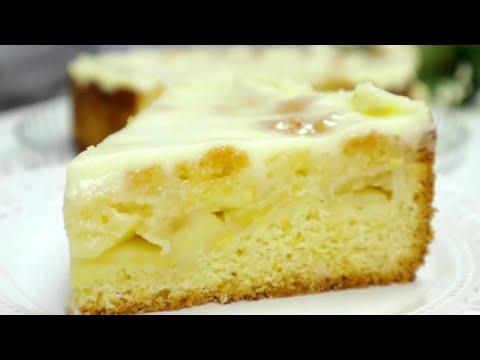 Не Пирог,а Сказка! Нежнейший Яблочный Пирог-Торт / Все дело в Заливке!