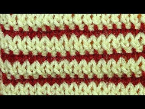 НОВИНОЧКА  ГИБРИДНЫЙ узор вязания   урок 10
