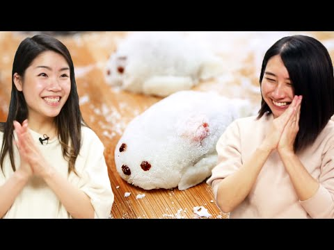 I Try Making Cute Seal Mochi For Rie ? Tasty