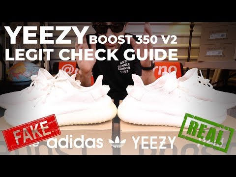 1477930cb YEEZY Boost 350 V2 LEGIT CHECK FAKE vs REAL with MEASUREMENTS!! How to Spot  Fake Yeezy s