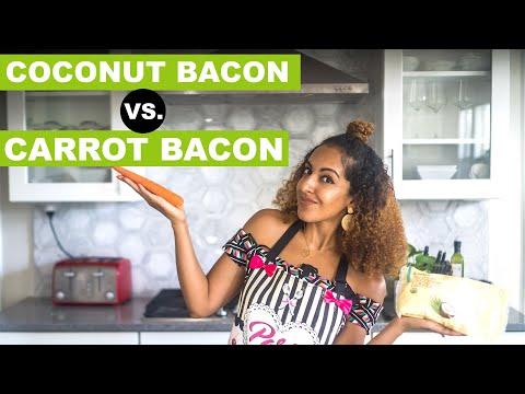 CARROT BACON vs COCONUT BACON   I Tried Tabitha Brown's Viral Recipe!