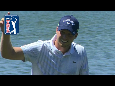 Daniel Berger finds pay dirt with an eagle hole out at Shell