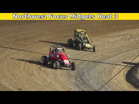 2021 Fred Brownfield Classic, Night 1, Northwest Focus Midgets Series Heat Races 1,2 and 3 - dirt track racing video image