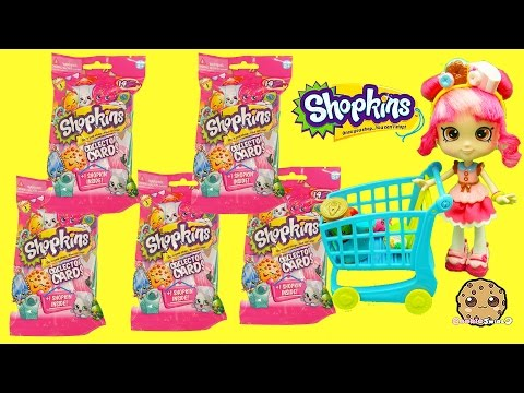 5 Shopkins Season 3 Collector Card Packs with Surprise Blind Bag with Donatina - Cookieswirlc - UCelMeixAOTs2OQAAi9wU8-g