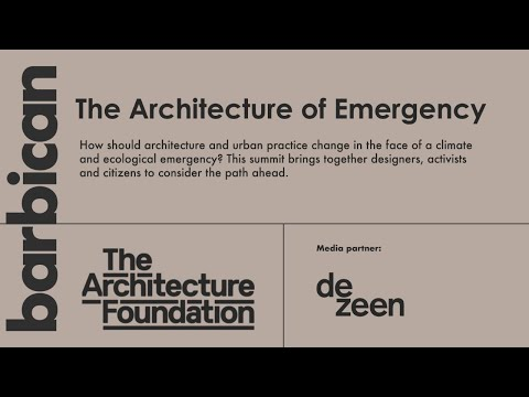 Watch the Architecture of Emergency live from the Barbican Centre