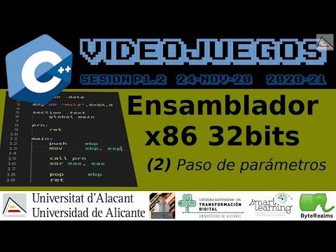 C++ : Ámbitos, parámetros y funciones en ensamblador x86 de 32 bits #Videojuegos #UA [ SP1.2 2020 ]