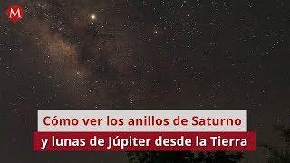 Cómo ver los anillos de Saturno y lunas de Júpiter desde la Tierra