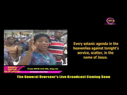 MFM SPECIAL MANNA WATER SERVICE WEDNESDAY JULY 8TH 2020
