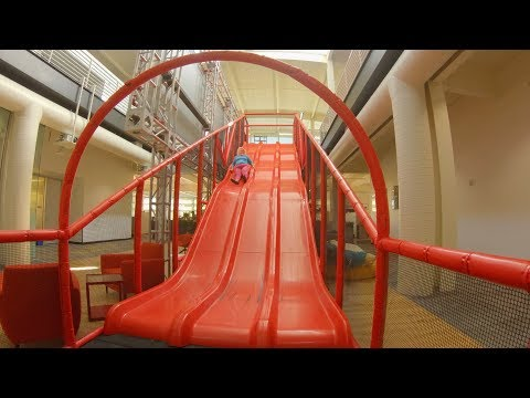 I Visited YouTube HQ and Went Down The Big Red Slide