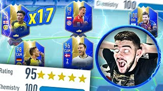17x TOTS NOS FUT DRAFTS!! 195 É REALIDADE!! FIFA 19