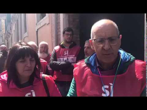 SI' al collegamento COMELICO-PUSTERIA Manifestazione a Venezia