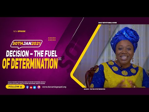 Dr Becky Paul-Enenche - SEEDS OF DESTINY  SATURDAY JANUARY 30, 2021