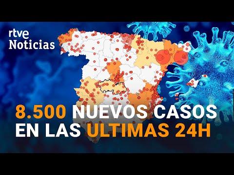 484 MUERTOS en el fin de semana y 38.273 nuevos CONTAGIOS registrados desde el viernes | RTVE
