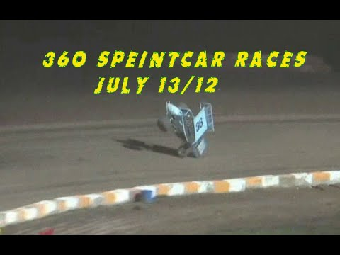 360 Sprintcar Races July 13/12 @  Ohsweken Speedway The ARCHIVE - dirt track racing video image