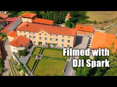 Domaine de Saint Roch, Auvergne, filmé avec DJI Spark